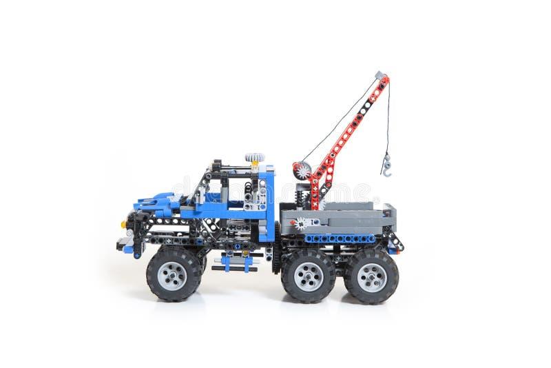 Brinquedo do caminhão de Lego foto de stock