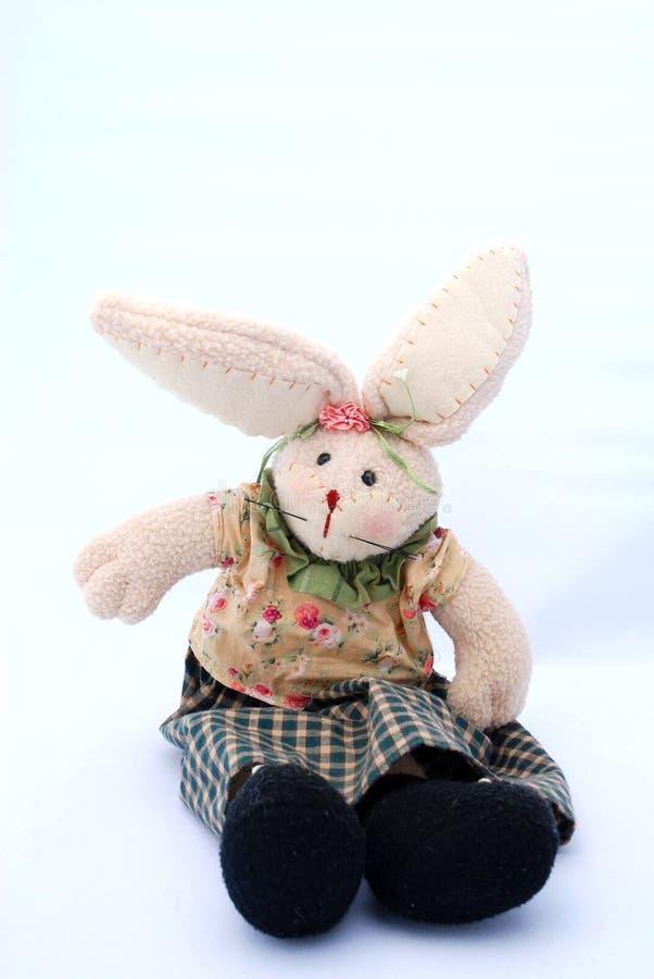 Brinquedo do coelho de Easter fotografia de stock royalty free