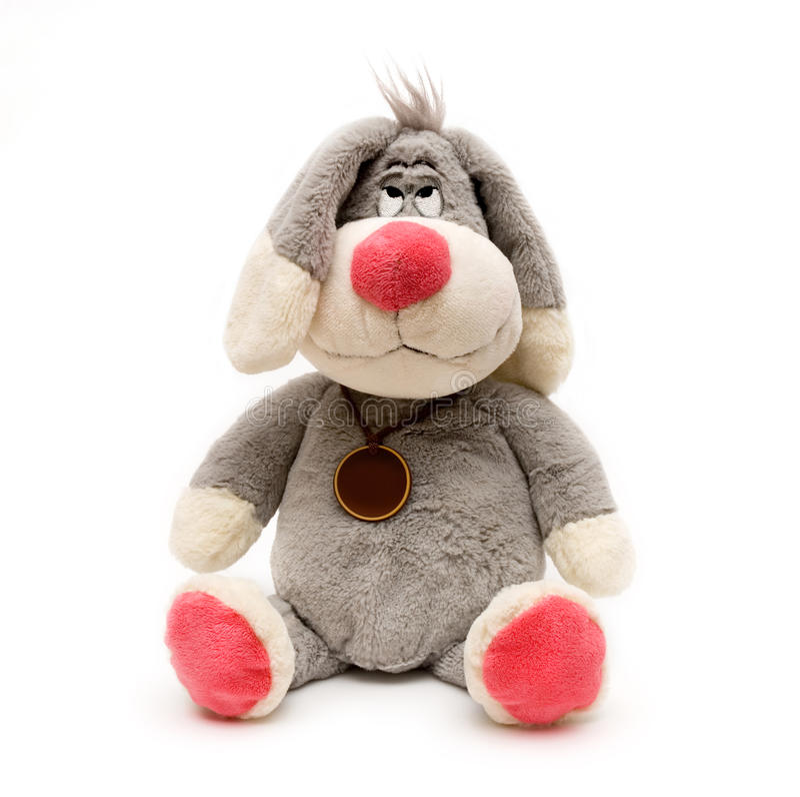Brinquedo do coelho isolado no branco foto de stock royalty free