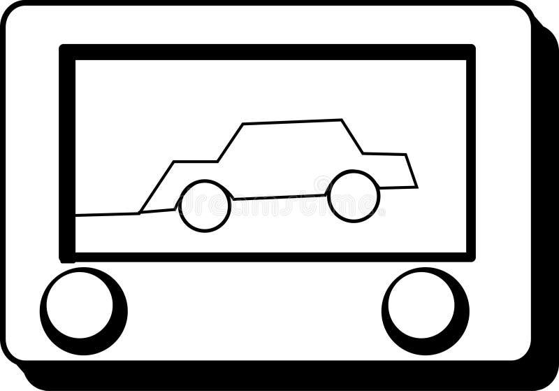 Brinquedo do desenho ilustração stock