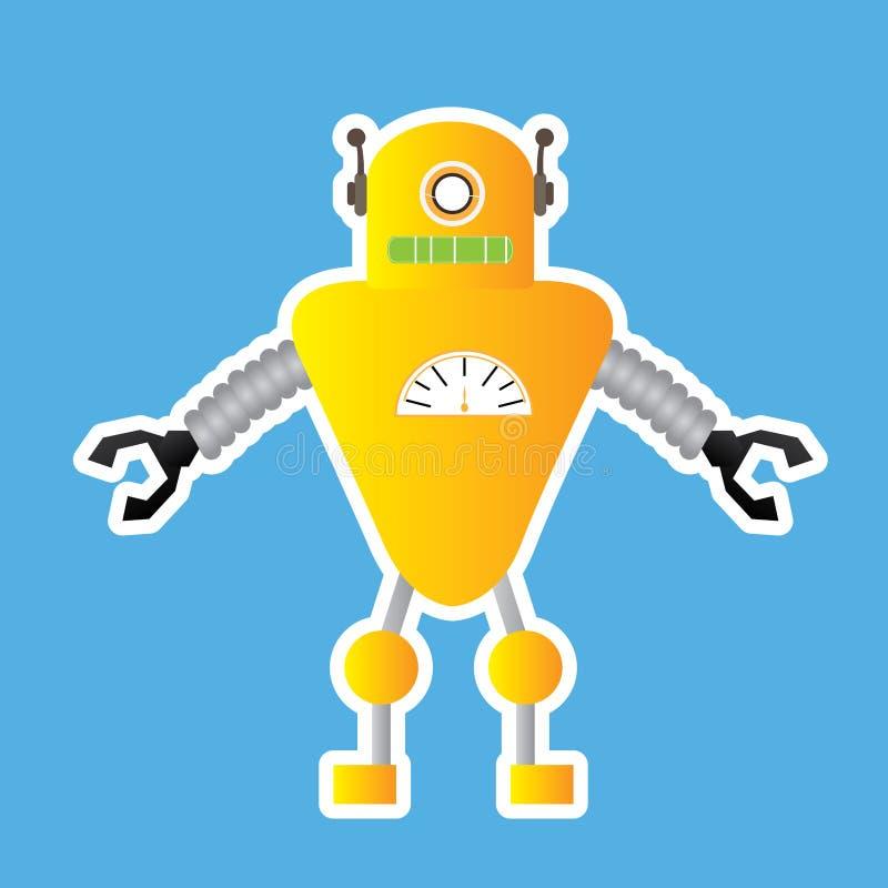 Brinquedo do robô ilustração stock