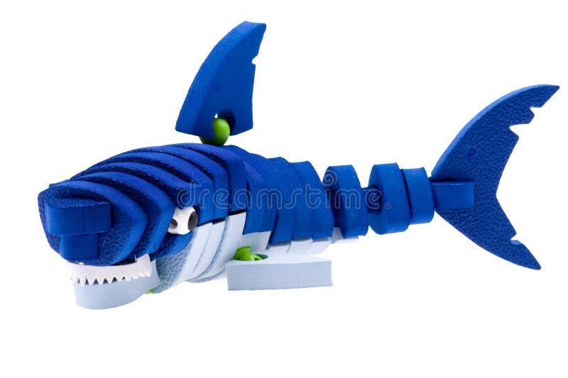 Brinquedo do tubarão fotografia de stock