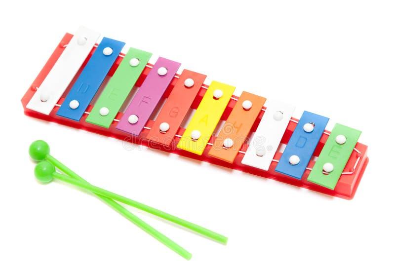 Brinquedo do xylophone da cor imagens de stock