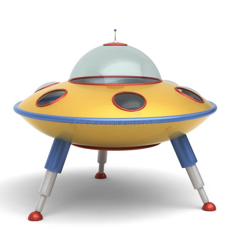 Brinquedo dos pires de vôo do UFO ilustração royalty free