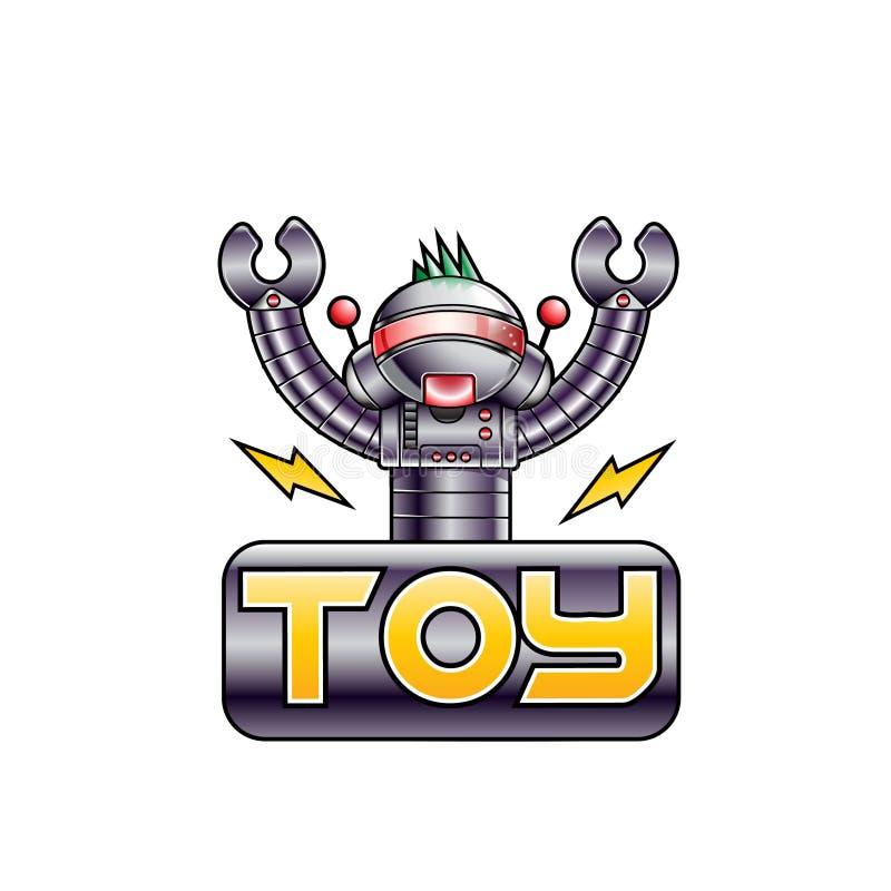 Brinquedo eletric do robô do vetor ilustração royalty free
