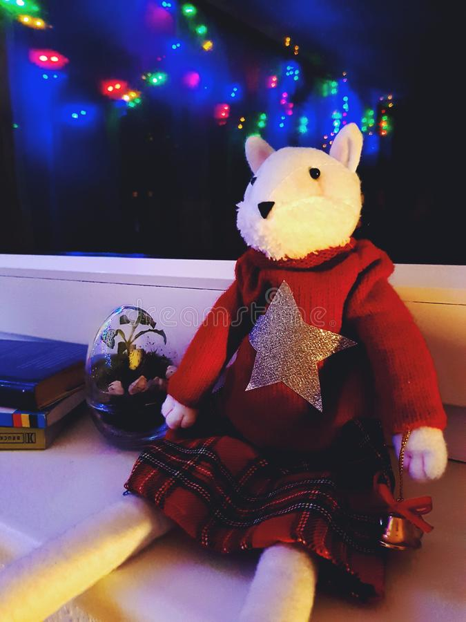Brinquedo enchido Natal imagem de stock royalty free