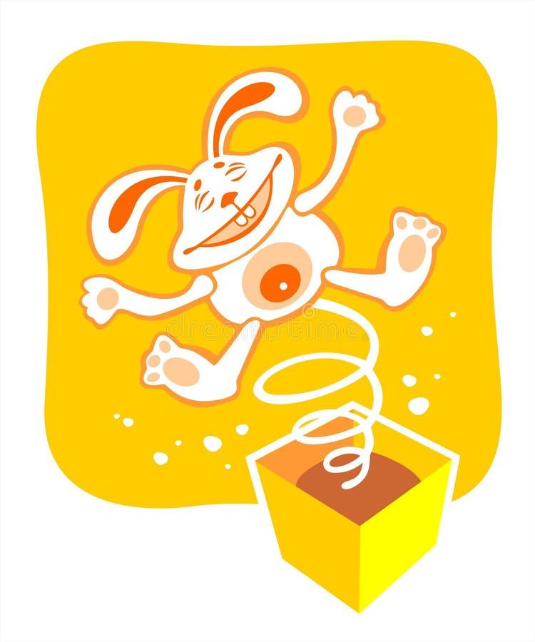 Brinquedo feliz do coelho ilustração stock
