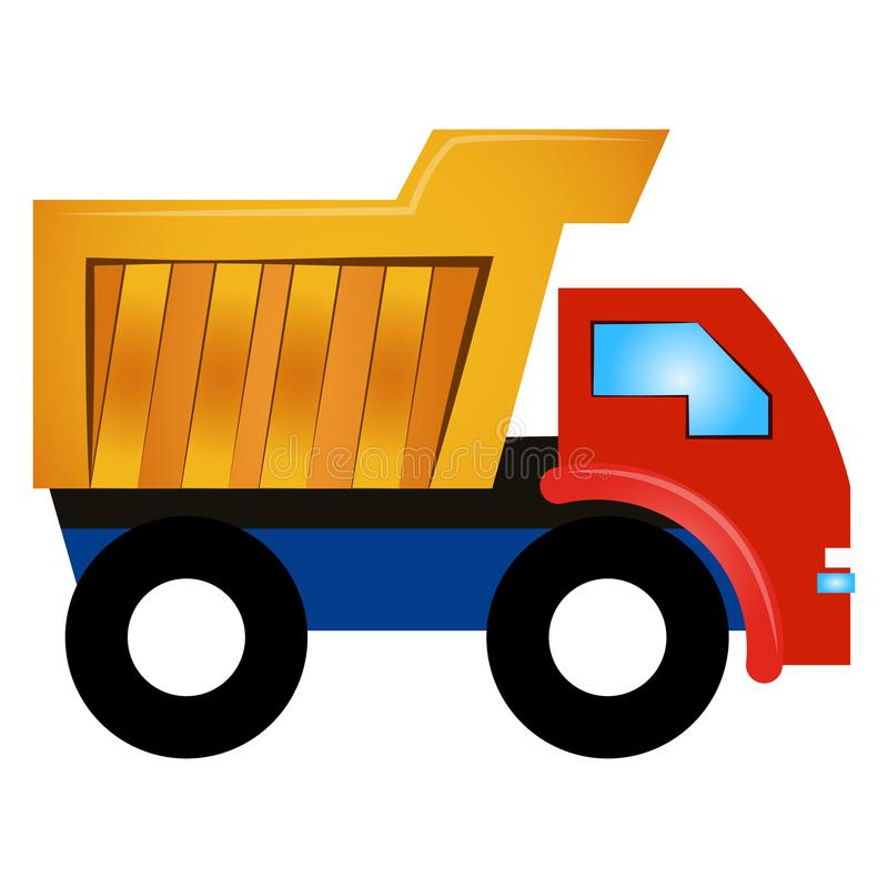 Brinquedo isolado do caminhão ilustração do vetor