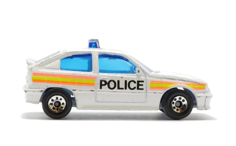 Brinquedo isolado do carro de polícia fotografia de stock