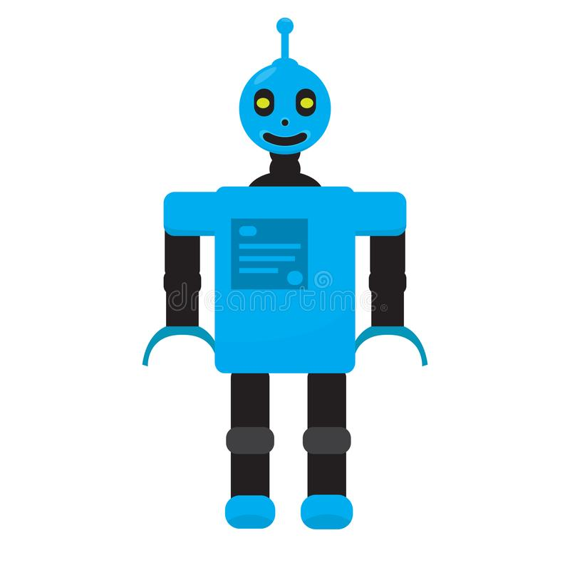 Brinquedo isolado do robô - vetor