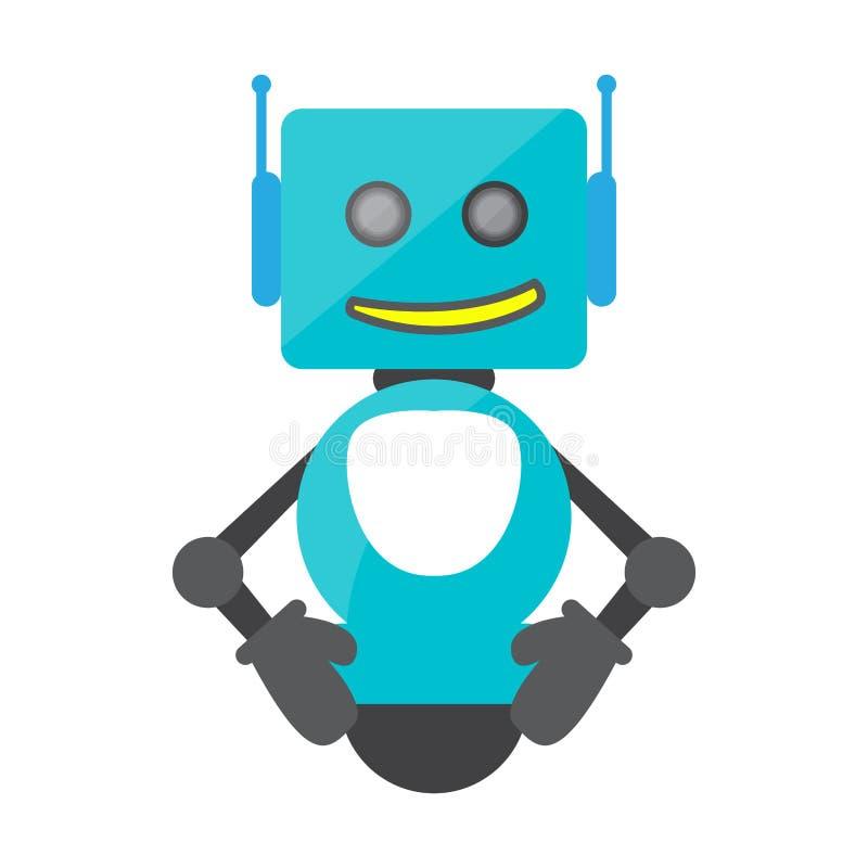 Brinquedo isolado do robô - vetor ilustração royalty free