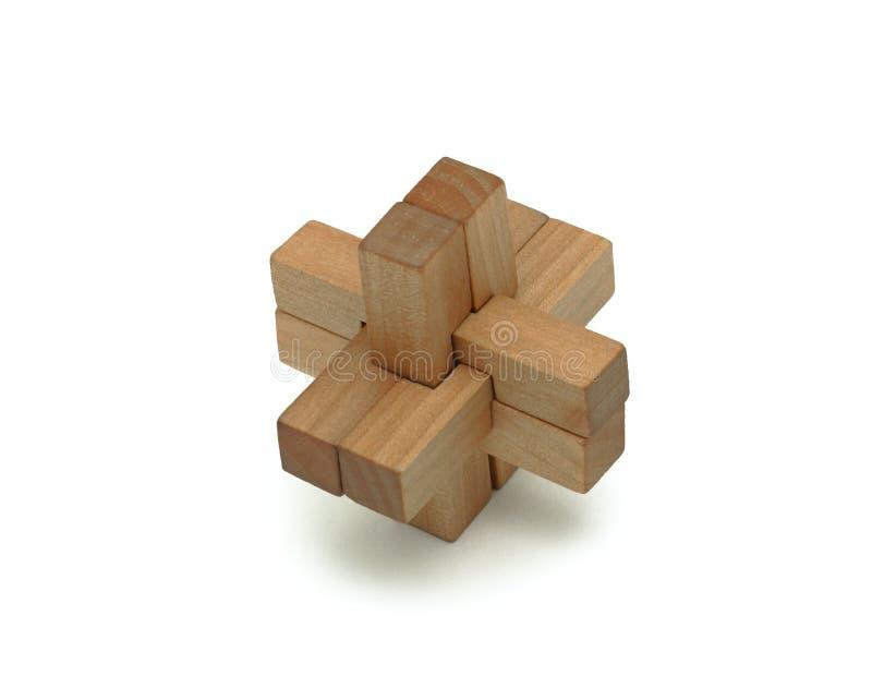 Brinquedo lógico de madeira, isolado fotografia de stock royalty free