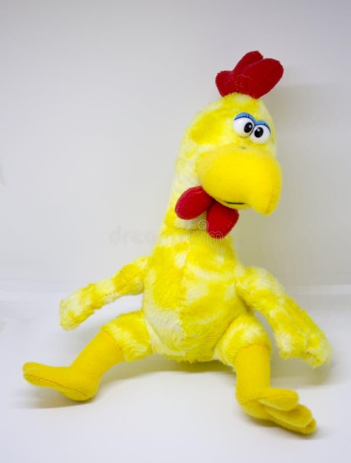 Brinquedo macio da galinha fotografia de stock