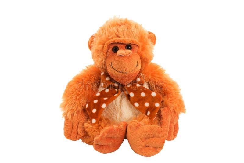 Brinquedo macio do macaco imagens de stock royalty free