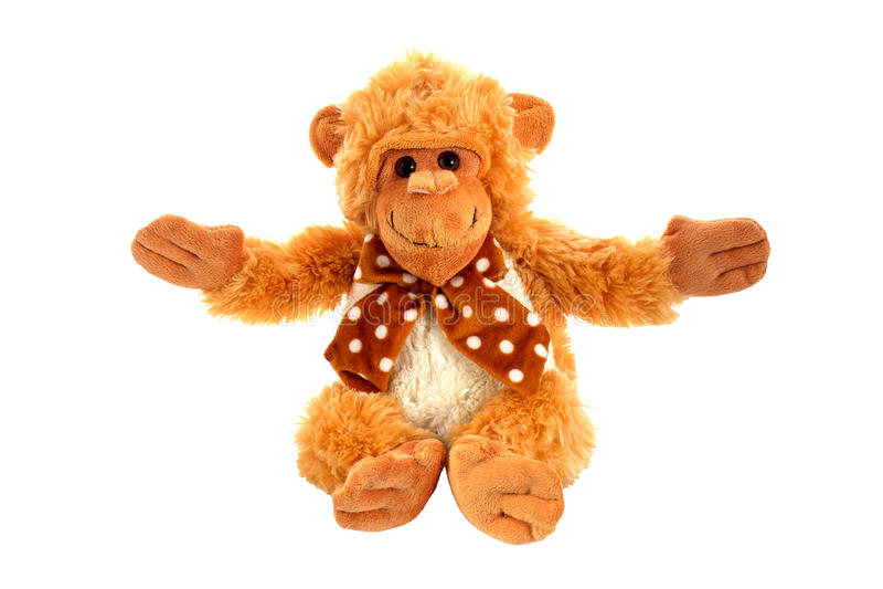 Brinquedo macio do macaco fotografia de stock