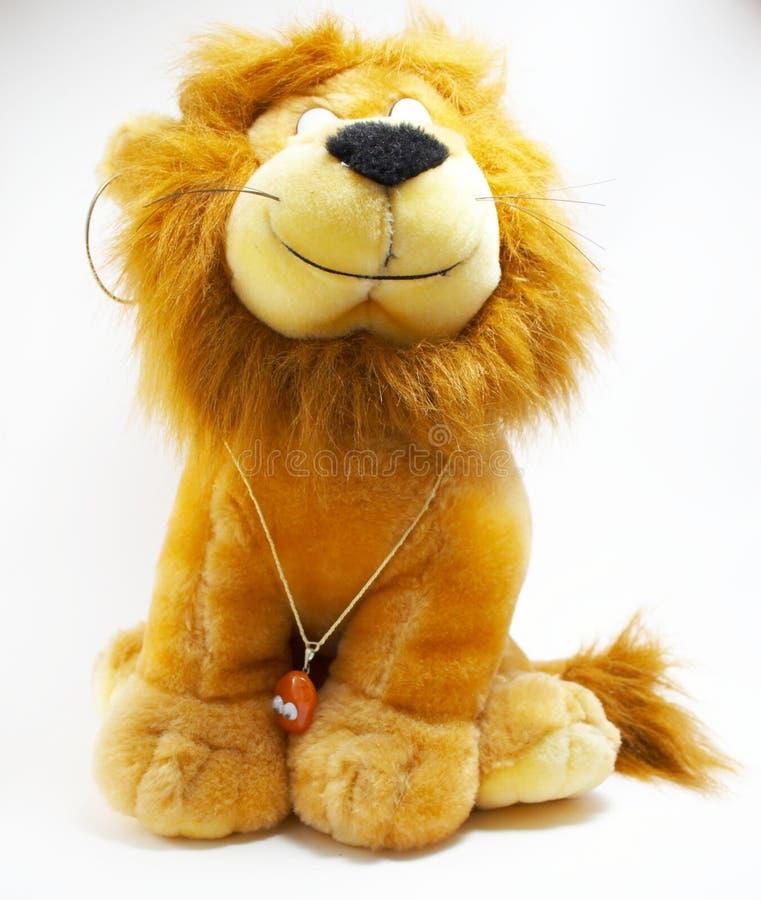 Brinquedo macio - um leão   imagens de stock royalty free