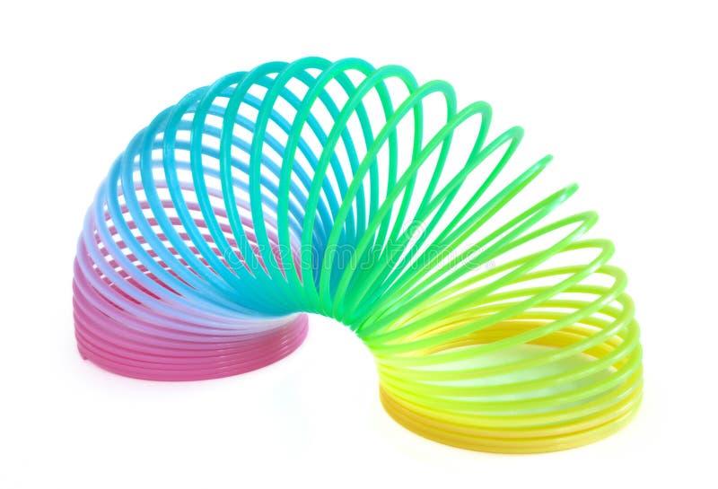Brinquedo Multi-Colored da mola imagens de stock royalty free