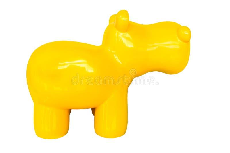 Brinquedo no cão branco do azul do fundo foto de stock royalty free