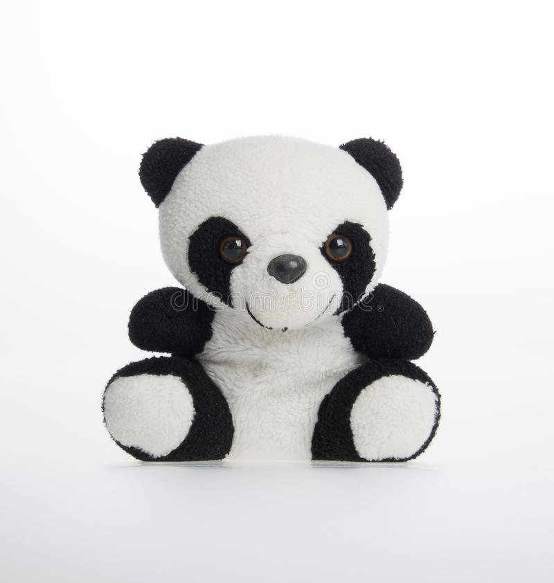 brinquedo ou brinquedo macio da panda em um fundo imagem de stock