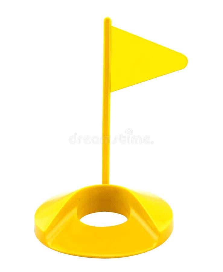 Brinquedo plástico do golfe do furo da bandeira foto de stock royalty free