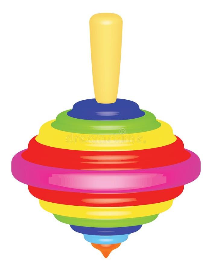 Brinquedo superior ilustração stock