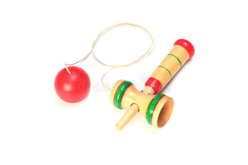 Brinquedo tradicional japonês - kendama fotografia de stock