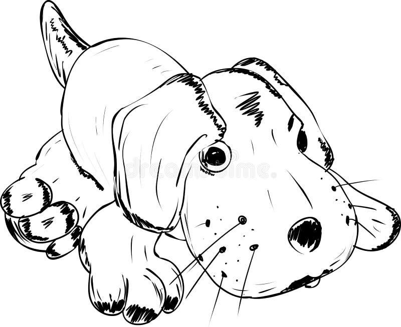 Brinquedo - um cão de encontro ilustração do vetor