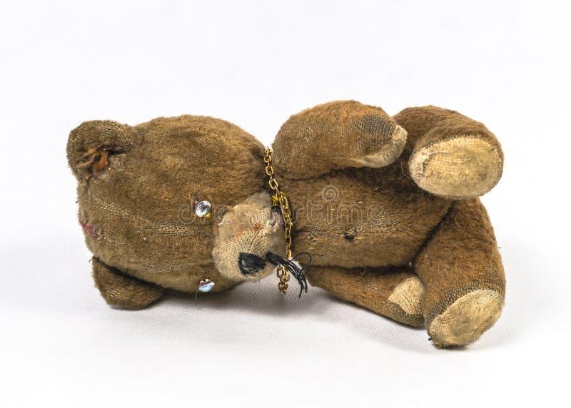 Brinquedo velho do urso de peluche fotografia de stock royalty free