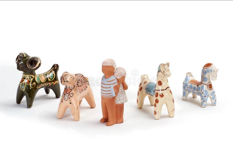 Brinquedos 2 da argila foto de stock