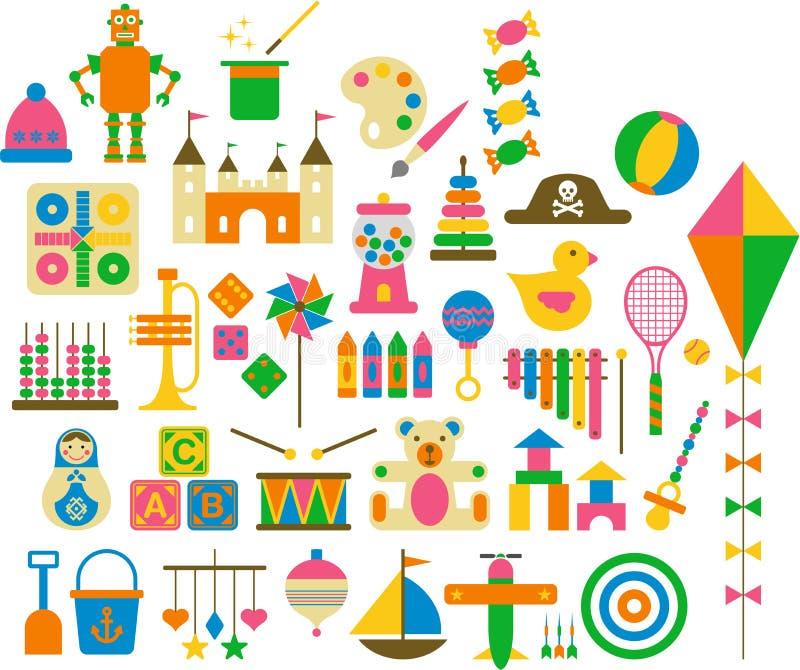 Brinquedos ilustração do vetor