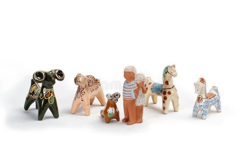 Brinquedos 3 da argila imagem de stock