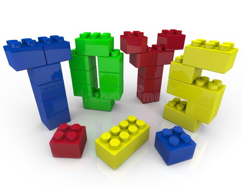 Brinquedos - blocos de apartamentos para o jogo creativo ilustração stock