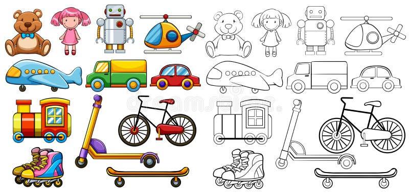 Brinquedos clássicos ilustração royalty free