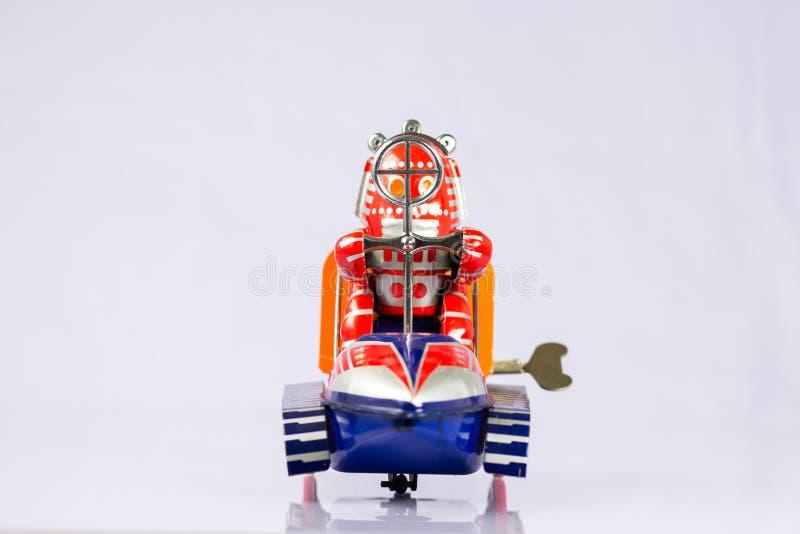 Brinquedos clássicos do robô imagem de stock