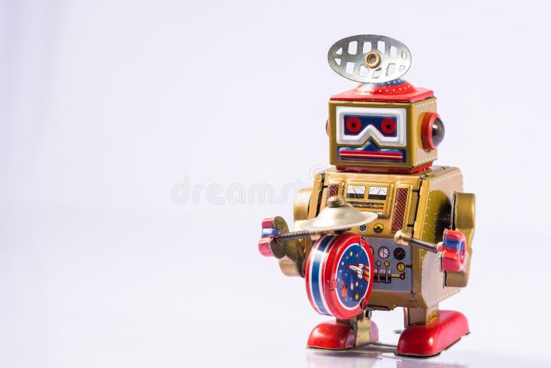 Brinquedos clássicos do robô fotografia de stock royalty free