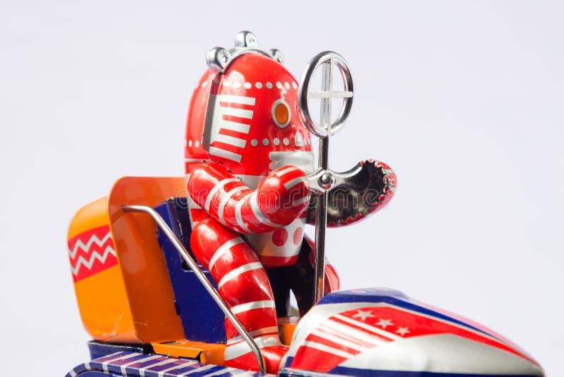 Brinquedos clássicos do robô imagem de stock royalty free