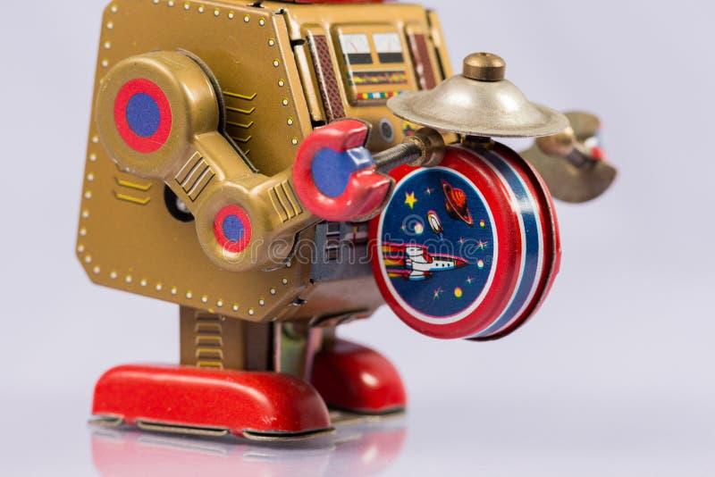 Brinquedos clássicos do robô foto de stock