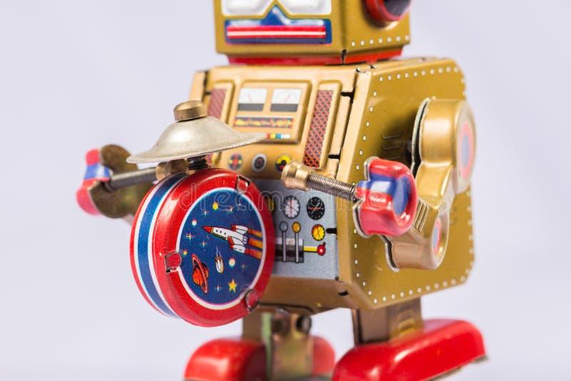 Brinquedos clássicos do robô imagens de stock royalty free