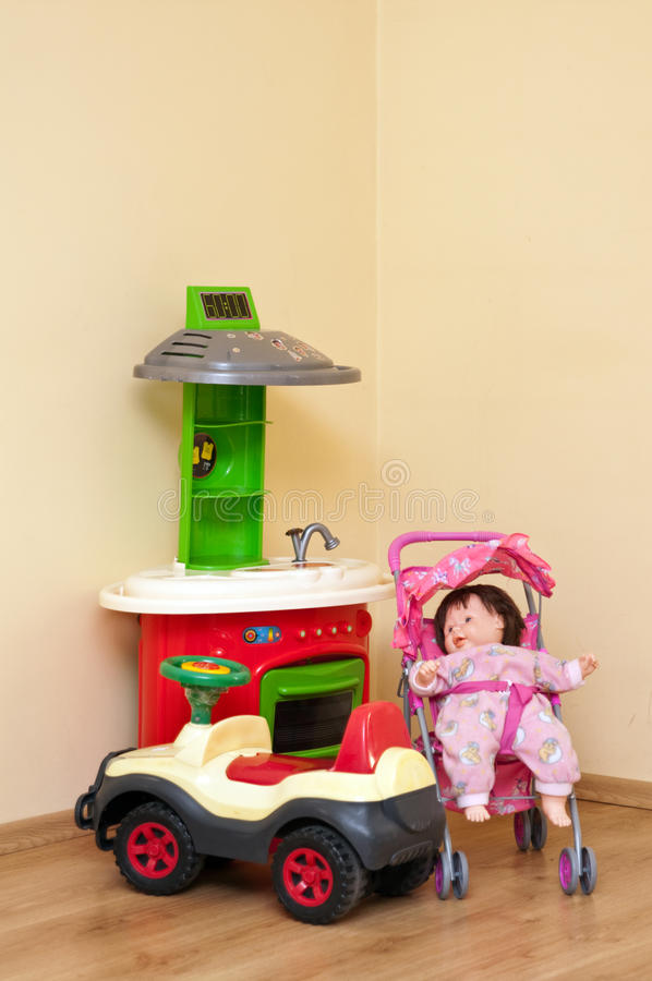 Brinquedos coloridos das crianças foto de stock