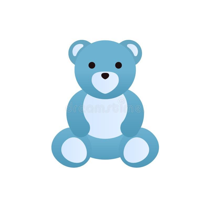 Brinquedos coloridos modernos do ` s das crianças Urso de peluche engraçado bonito ilustração do vetor