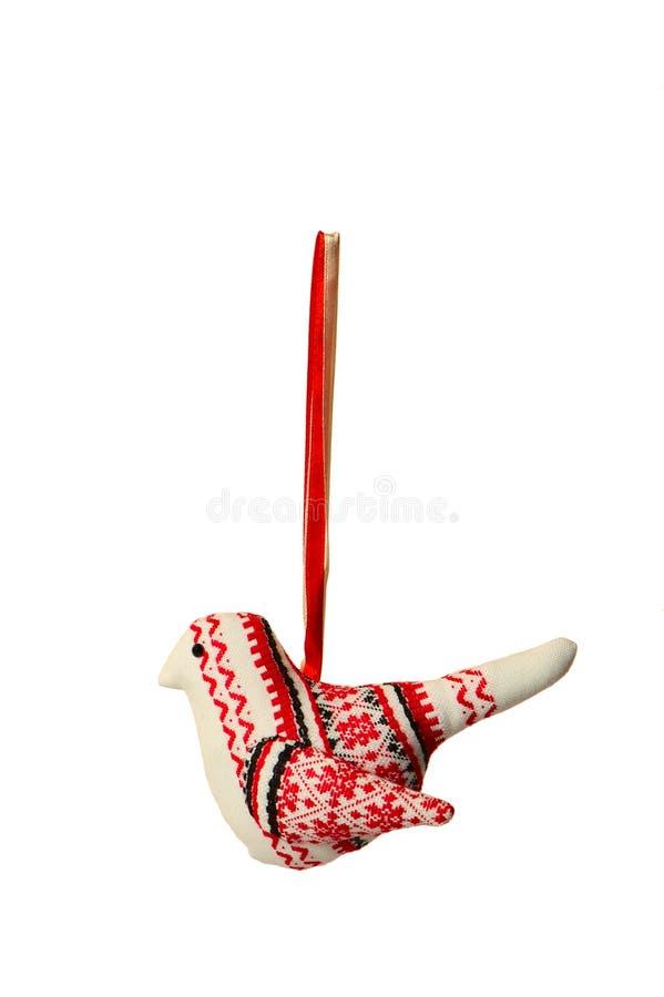 Brinquedos da árvore de Natal de matéria têxtil fotografia de stock