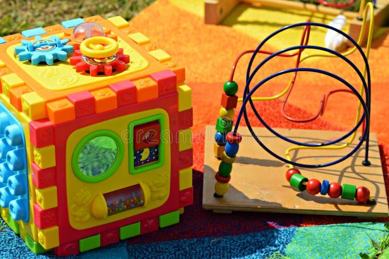 Brinquedos da lógica imagem de stock