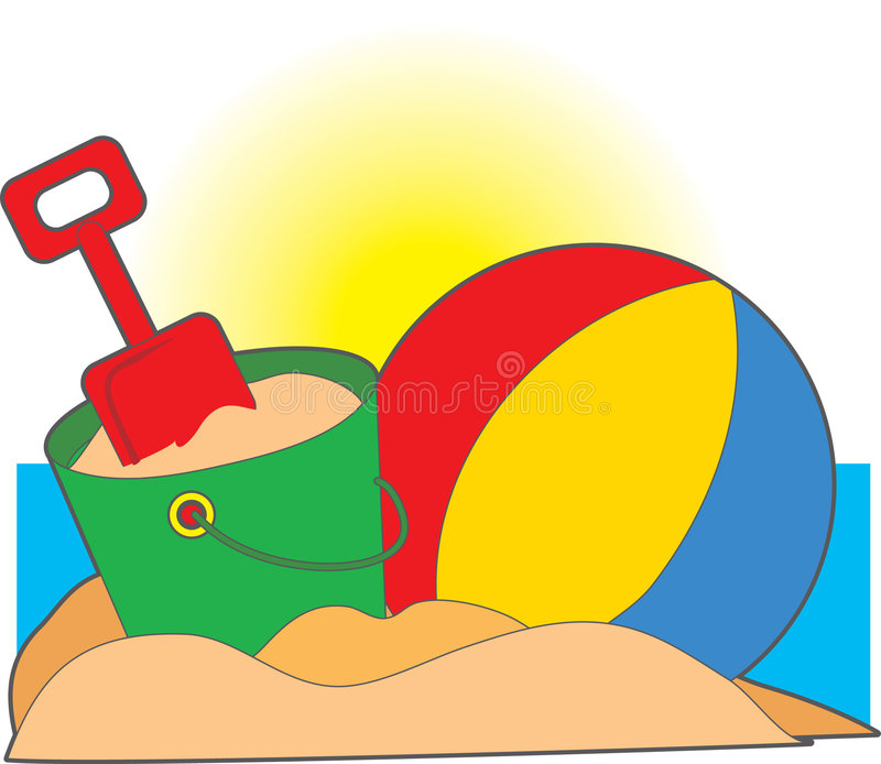 Brinquedos da praia ilustração royalty free