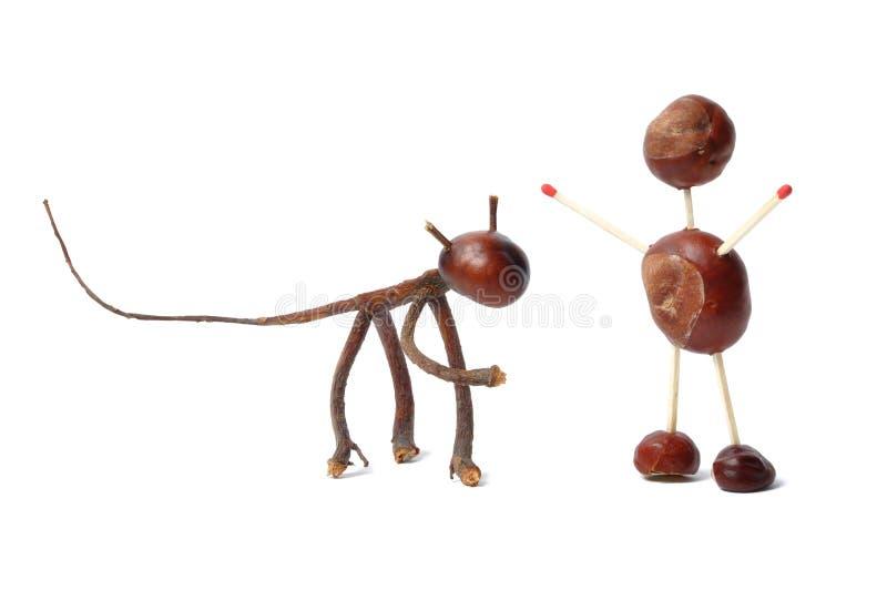 Brinquedos das castanhas imagem de stock royalty free