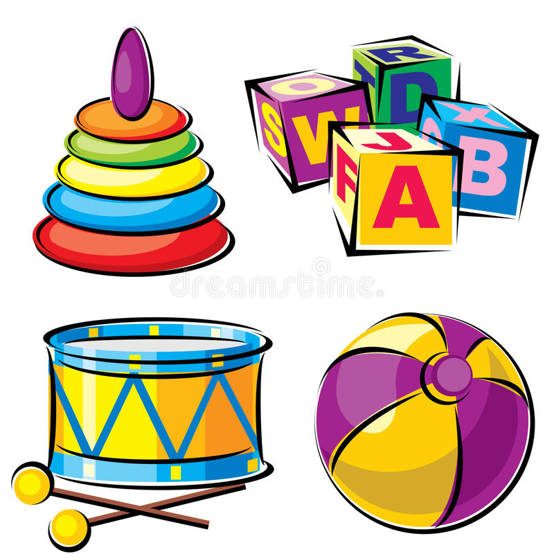 Brinquedos das crianças ilustração stock