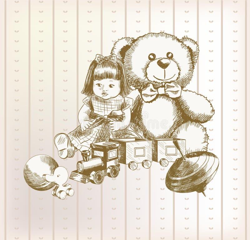 Brinquedos das crianças ilustração do vetor