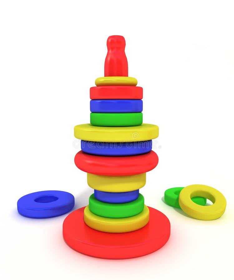 Brinquedos de madeira ilustração do vetor