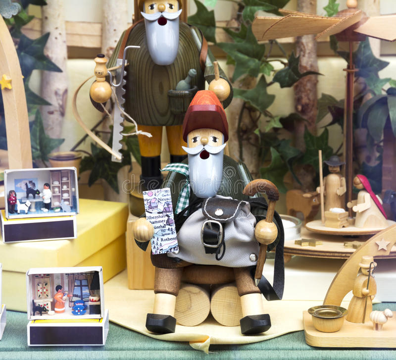 Brinquedos de madeira alemães fotos de stock royalty free