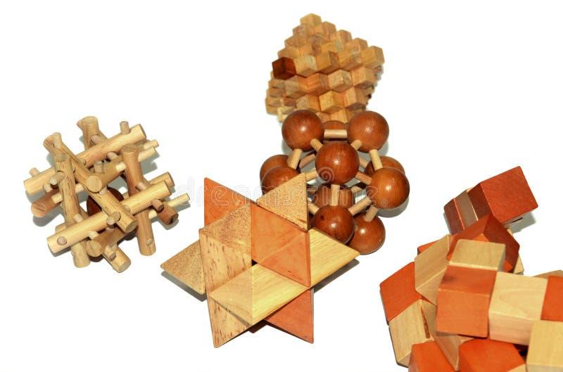 Brinquedos de madeira da lógica fotografia de stock royalty free