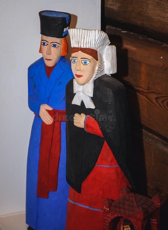 Brinquedos de madeira tradicionais imagem de stock